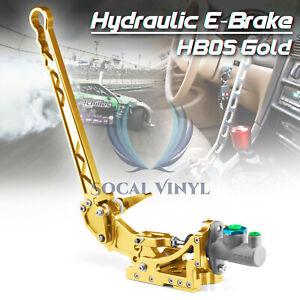 Gold Hydraulic Racing Hand E Brake Drift Rally Handbrake Aluminium Lever Hb05