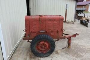 Vintage Military Generator Cart 4 Cylinder Hercules Zxb Avery Tractor Engine