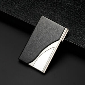 Fashion Stainless Steel Credit Card Holder Id Business Card Case Wallet