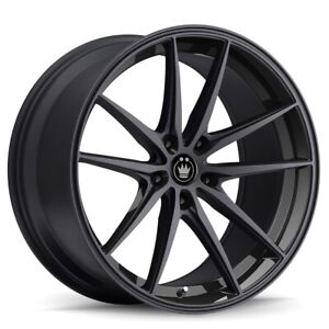 4 New 19x8 5 Konig Oversteer Black Wheel Rim 5x108 19 8 5 5 108 Et42