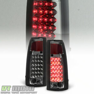 Smoked 1988 1998 Chevy Silverado C K 1500 2500 3500 Sierra Led Tail Lights Lamps