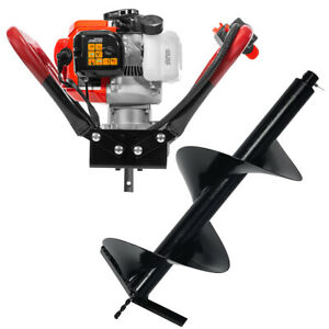 2 Stroke Gas Post Hole Digger One Man Auger Epa digger And 12 bit V type 55cc