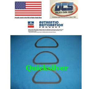 1969 71 Dodge Plymouth 340 440 Six Pack Air Cleaner Base Gaskets Mopar New