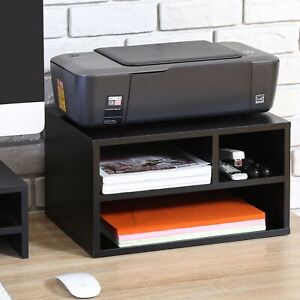 Fitueyes Wood Printer Stands With Storage Workspace Desk Organizers For Home