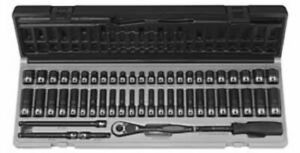 Grey Pneumatic 89653crd 1 4 Dr 6 Point 53 Pc Fract Metric Duo Socket Set New