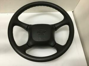 98 02 Chevy Suburban Tahoe Leather Steering Wheel Airbag Black Oem Silverado