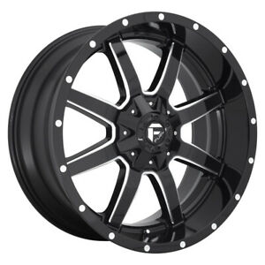 4 New 22x10 Fuel Maverick Gloss Black Milled 5x139 7 D61022007057
