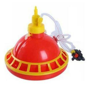 Round Chicken Drinking Fountain Device Hanging Cup Waterer Bowl Poultry Drinker
