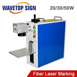 20 50w Portable Fiber Laser Marking Machine Laser Source Raycus Max Mini Marker