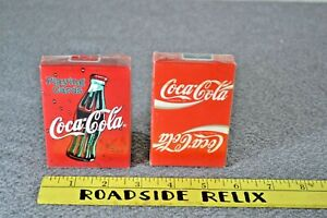 Lot of 2 Vintage Coca Cola Playing Cards-Sealed- Bicycle Brand- Tax Stamps Whole