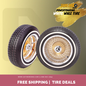 2 Of Suretrac White Wall Tire Power Touring 155 80r13 155 80 13 1558013