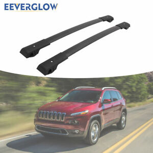 Cross Bar Roof Rack Rail Fit For Jeep Cherokee 2014 2020 Luggage Baggage