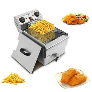 1500w 11 8l Electric Deep Fryer Commercial Countertop Basket French Restaurant