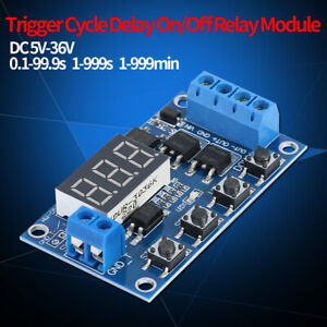 Trigger Cycle Delay Timer Switch Turn On off Relay Module With Led Display Dc