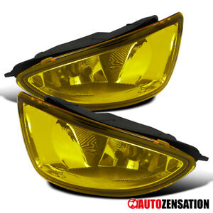 For 04 05 Honda Civic Coupe Sedan Yellow Bumper Fog Lights W Switch Wiring Bulb