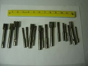 Jig Bore Reamers Hss Lot Of 17 From 25 1 Weldon Machinist Cutting Tool