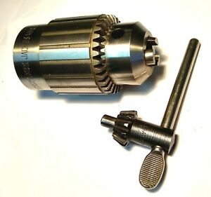 New 3 4 Jacobs 59b Drill Chuck Lathe Spindle 1 1 2 X 8 Threads Atlas South Bend