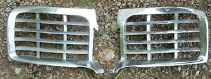 1946 1947 1948 Lincoln Upper Grills Inserts Pair Left Right Hand Chrome Oem