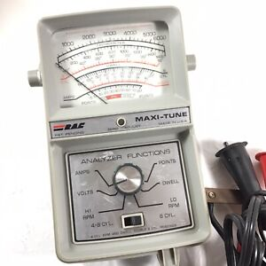 Vintage 1970 S Rac Maxi Tune Ignition Analyzer 4 8 Cylinders Made In Usa