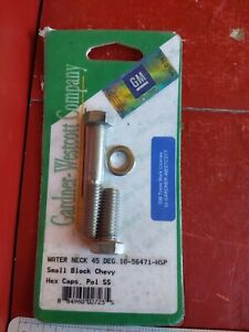 Chevy Small Block Water Neck Bolt Kit 45 Degrees Bowtie Logo