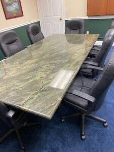 Gorgeous Granite Conference Table 8 Ft X 4 Ft Table Top With 6ft X 3ft Base