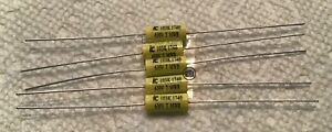 5 New Illinois Cornell Dubilier 01 Uf 630v Metalized Polyester Film Capacitors