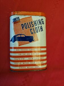 Original Vintage 1947 1964 Gm Accessories Polishing Cloth In The Can