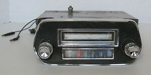 1965 66 Ford Mustang Original In Dash Radio 8 Track Tape Player With Bezel
