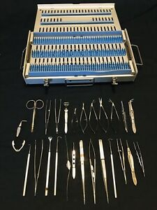 Karl Storz Surgical Ophthalmic Instruments Set W Metal Case 2 Germany 26 Pcs