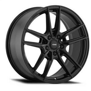 4 New 19x8 5 Konig Myth Black Gloss Wheel Rim 5x112 Et40 My89512405