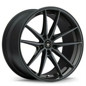 4 New 19x8 5 Konig Oversteer Black Gloss Wheel Rim 5x114 3 Et30 Os98514305