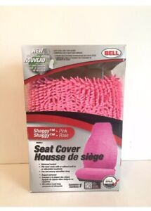 New In Box Bell Shaggy Pink Car Seat Cover Fuzzy
