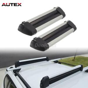 30 Universal Ski Snowboard Carrier Roof Rack Mounted Cross Bar Rail Top Rack