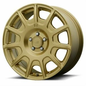 4 New 15x7 Motegi Mr139 Rally Gold Wheel Rim 5x100 Et15