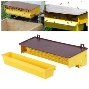Pollen Trap Equipment Bee Hive Entrance Powder Remover Beekeeping Yellow