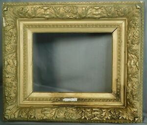Antique Ornate Gilt Baroque Barbizon Picture Frame 10x12 Or 10x13 As Is Gilded