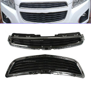 Front Upper Lower Center Chrome Bumper Grill Grille Fit For Chevrolet Trax New