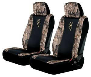 Browning Morgan Seat Covers 2 Pack Realtree Timber Camo Low Back Universal