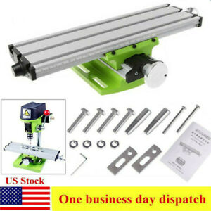 Milling Machine Worktable Compound Cross Sliding Table Bench Drill Vise Fixture