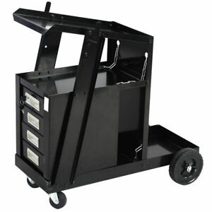 Welder Welding Cart Plasma Cutter Mig Tig Arc Universal Storage For Tanks New Us