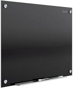 Quartet Glass Whiteboard Magnetic Dry Erase White Board 3 X 2 Infinity Black