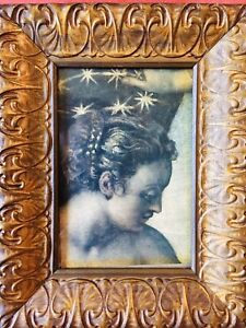 Antique Carved Gilt Wood Art Nouveau Picture Frame Newcomb Macklin Style