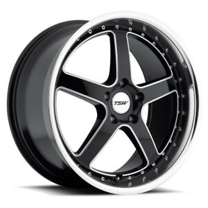 4 New 19x9 5 Tsw Carthage Black Wheel Rim 5x114 3 5 114 3 5x4 5 19 9 5 Et40