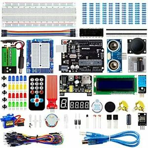 Super Starter Kit Project With Breadboard Power Supply Jumper Wires Led Lcd