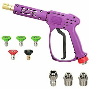 Atmozon Pressure Washer Spray Gun 5 Power Nozzle Tips 1 4 quot Quick M22 14mm
