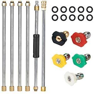 Pressure Washer Extension Wand Set 7 5 Ft Replacement Lance With Spray Nozzle