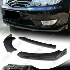 Carbon Style Front Bumper Protector Body Splitter Spoiler Lip 3pcs Universal