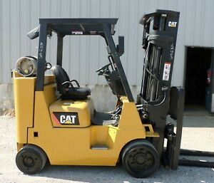 Caterpillar Model Gc40kstr 2014 8000 Lbs Capacity Cushion Tire Lpg Forklift