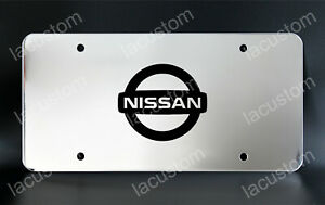 Nissan License Plate Custom Made Of Chrome Plated Metal