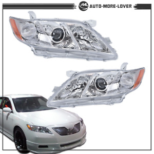 Headlights Assembly Chrome Housing For 2007 2008 2009 Toyota Camry Projector Us